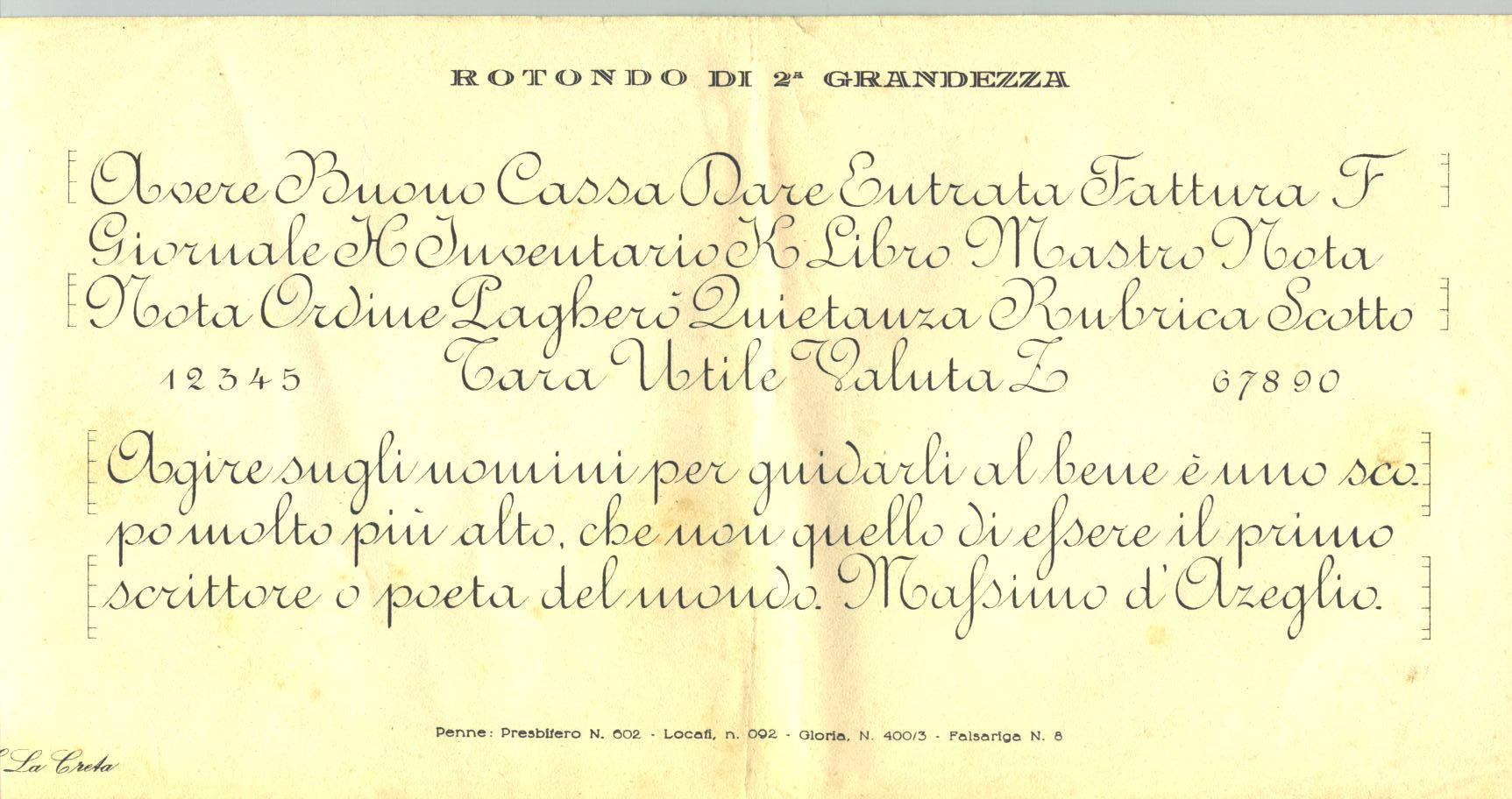 Calligrafia nella scuola elementare degli anni 50 - Modello di scrittura vichingo ...