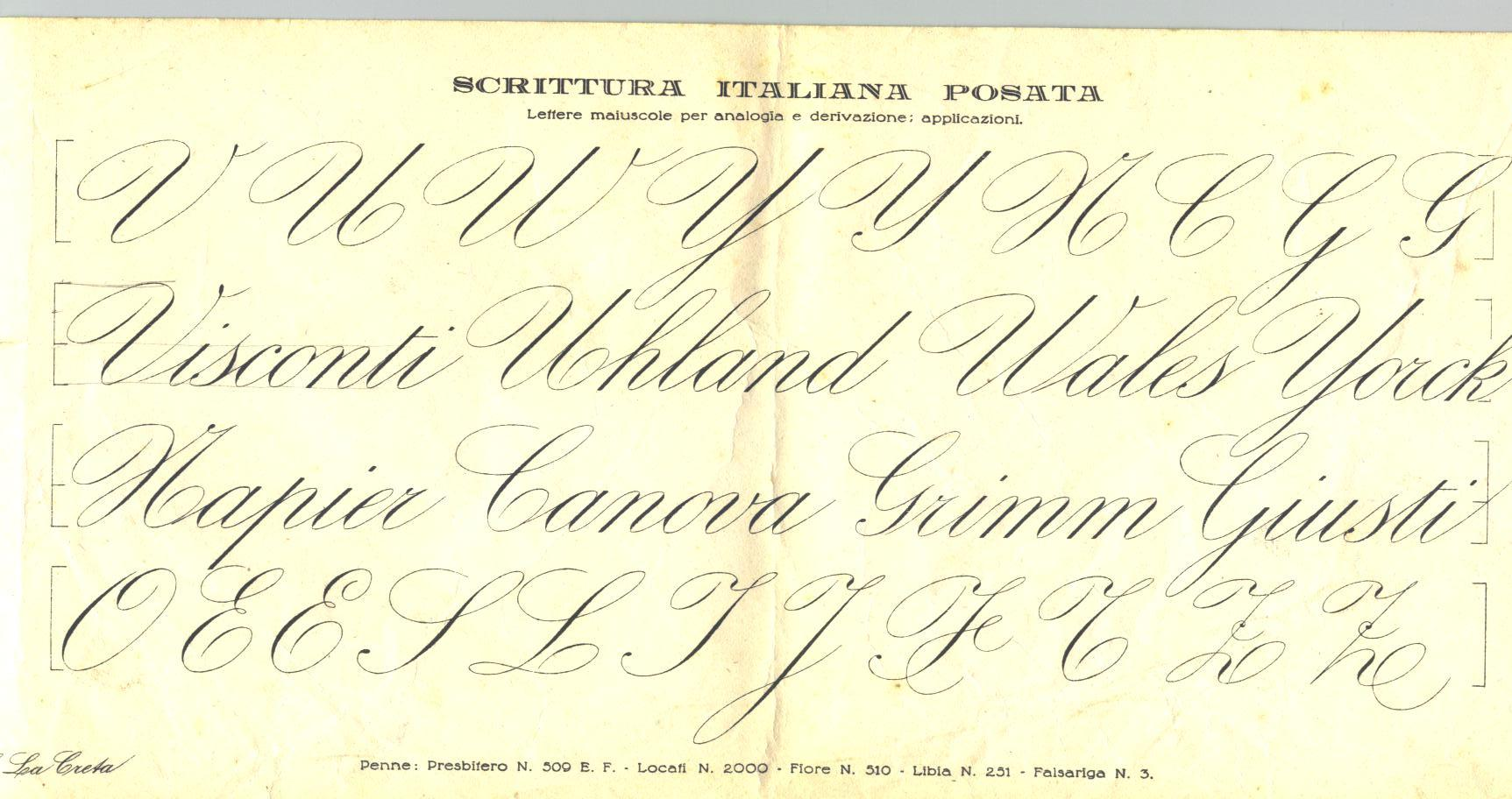 Scrivere in corsivo  Berlicche